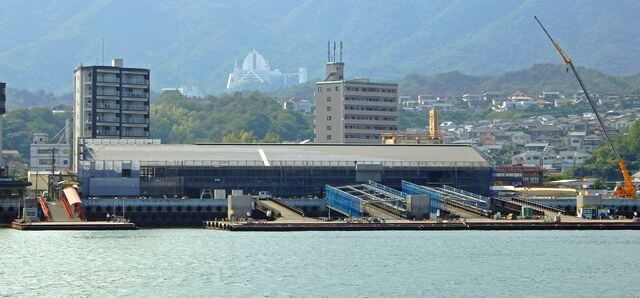 宮島口・厳島港ターミナル 工事の様子