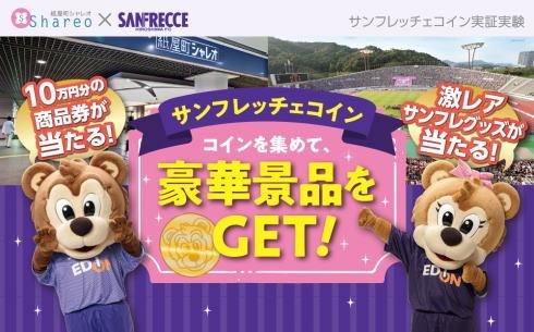 サンフレッチェコイン はじまる、10万円商品券やロッカー見学など豪華景品ゲット
