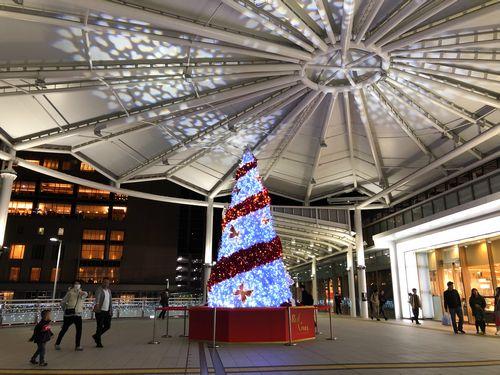 広島駅のクリスマスツリー2019