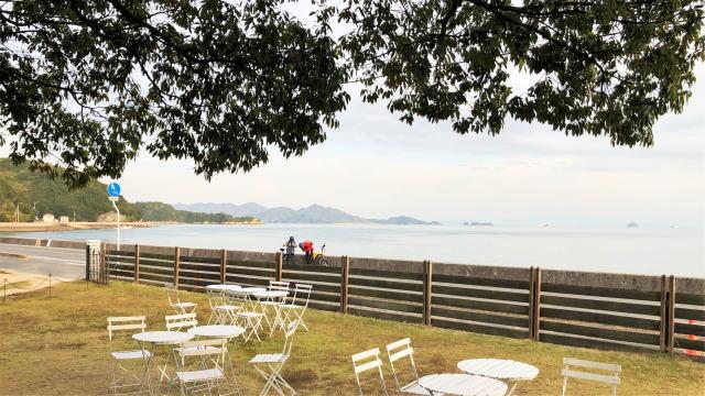 尾道市向島 ウィローズナーサリー からの景色