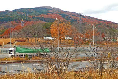 吉和サービスエリア下り線 から見た紅葉