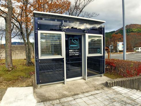 吉和サービスエリアの喫煙コーナー