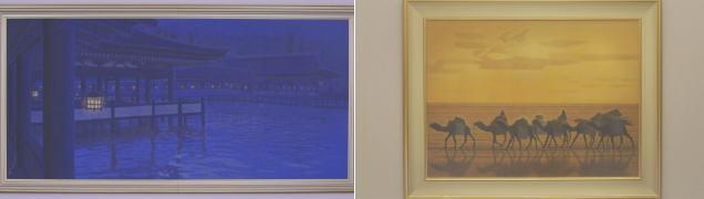 平山郁夫の作品「月華厳島」と「流沙浄土変」