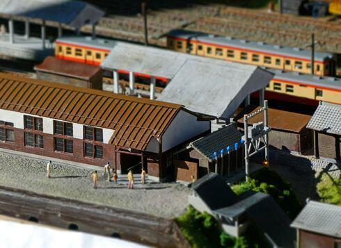 備後落合駅のジオラマ、駅舎