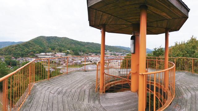 安芸高田市 丸山公園 展望台からの風景