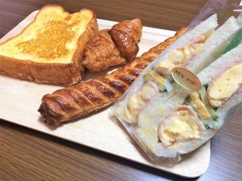 広島港のパン屋「ニューポート」のパンたち