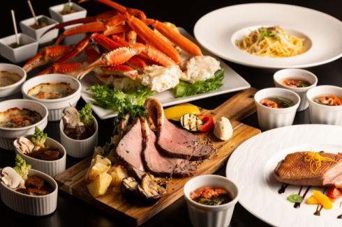 蟹×肉フェアがパワーアップ!土日祝日限定、リーガでディナービュッフェ