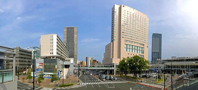 ここ数年で風景が一変した、広島駅北口(エキキタ)シェラトンホテル側