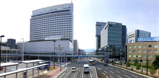 ここ数年で風景が一変した、広島駅北口(エキキタ)ホテルグランヴィア広島側