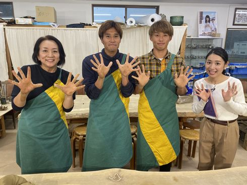サンフレッチェ広島 森島司&渡大生コンビの陶芸体験