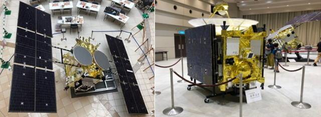 はやぶさ 原寸大模型展示、広島空港「宇宙展」で