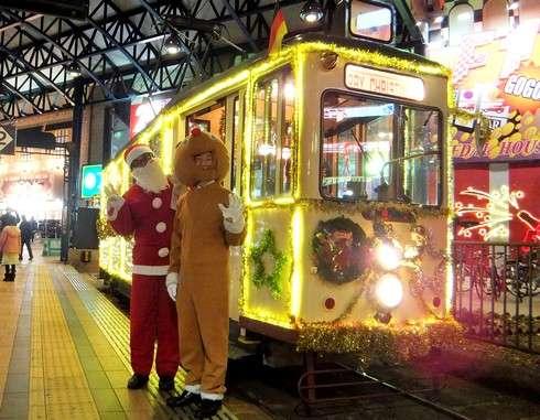 広電 クリスマス電車 イメージ