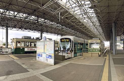 広島港(旧宇品港)路面電車