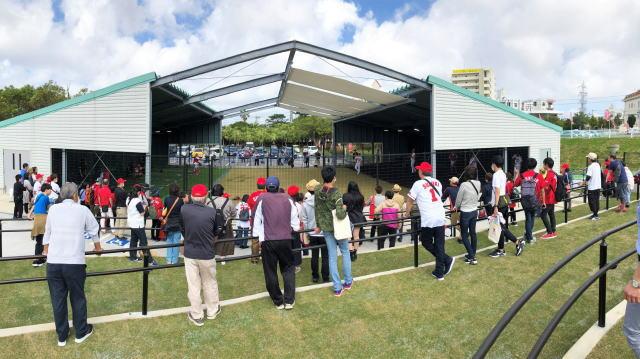 カープ沖縄キャンプ ブルペン(投球練習場)