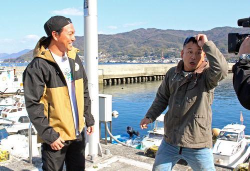 カープ長野選手の登場に驚くバイきんぐ西村