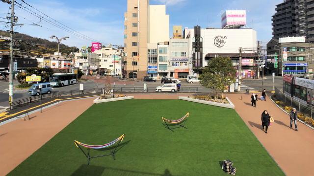 コイプレ 広電西広島駅横スペース 上から見下ろした様子