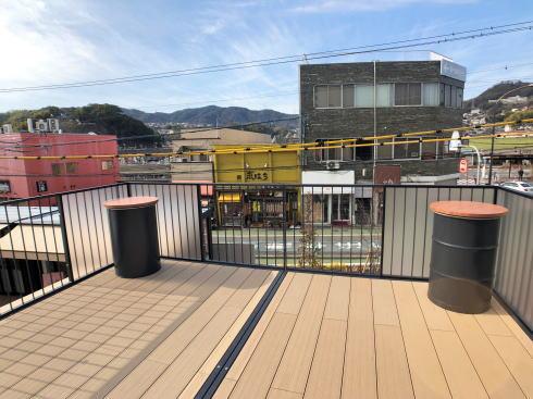 広電西広島駅横 コイプレ内の「コイハウス」屋上