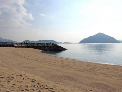 野賀海水浴場 中央の堤防付近から