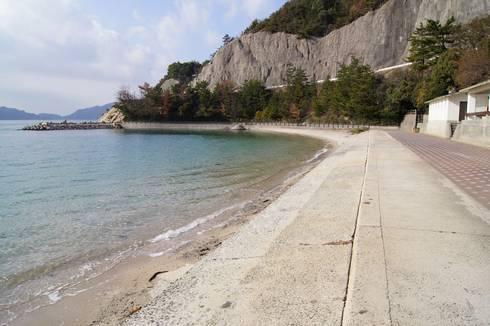 野賀海水浴場 中央の堤防から西側01