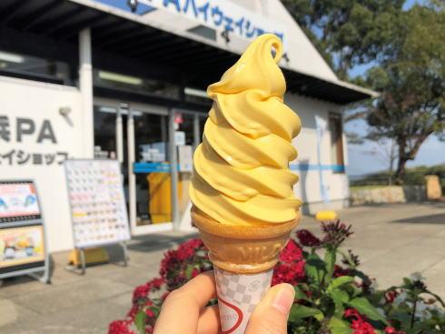 大浜PA(上り線)で販売されているはっさくソフトクリーム