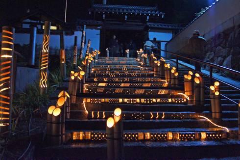 照蓮寺 寺にて町並み竹灯り