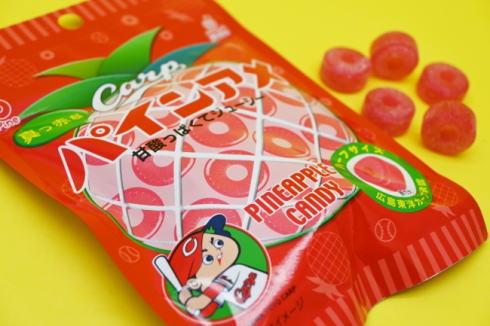 カープとコラボで広島限定、真っ赤な「パインアメ」発売