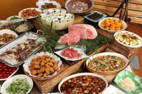 庄原花たびキャンペーン 写真3 休暇村 帝釈峡の料理