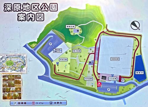 熊野町の深原地区公園マップ