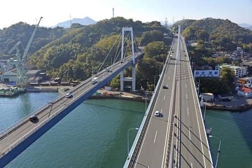 尾道大橋と新尾道大橋