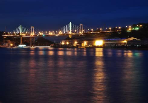 尾道大橋と新尾道大橋 尾道大橋の夜景