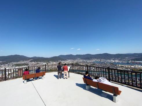 新しくなった 黄金山の山頂北展望ゾーン 写真1