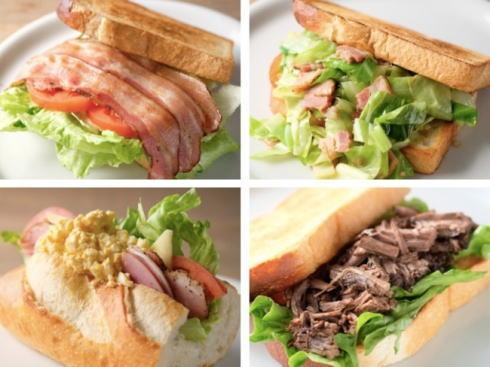 尾道のトムスサンドイッチ 提供メニュー一例