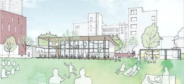 福山市・中央公園にカフェレストラン、2021年春オープンめざし