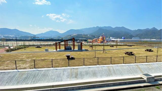 大竹市 晴海臨海公園 デイキャンプ場 全景画像