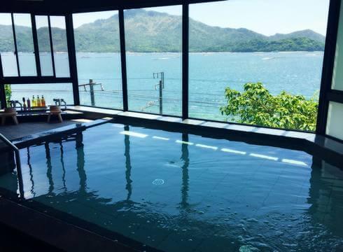 宮浜グランドホテルが温泉の大浴場と露天風呂、貸切サービス開始