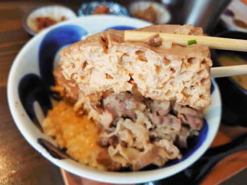 広島市 ますきち国泰寺店 肉豆腐めし2