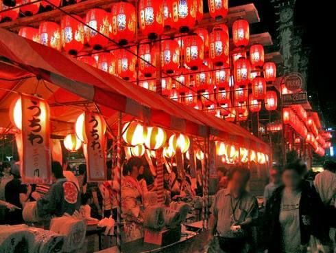 広島の浴衣祭り「とうかさん」