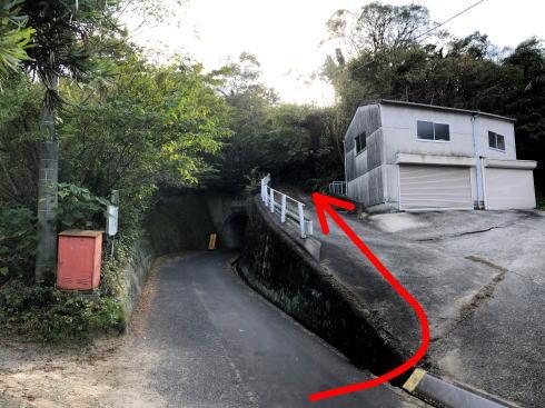 岩子島 ゆるぎ岩への道 ポイント2