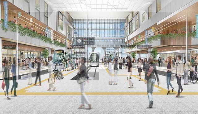 広島駅の2Fに広島電鉄・路面電車の駅、2020年11月から工事スタート