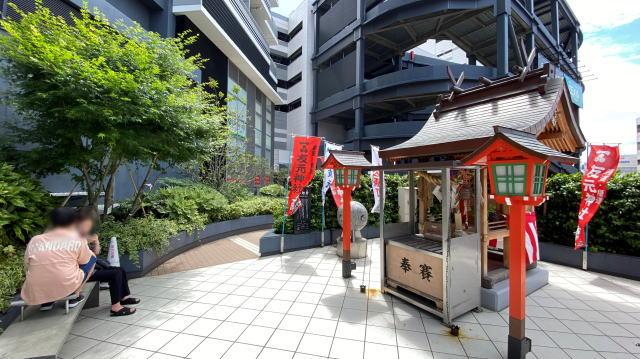エキシティ広島 友元神社に昇鯉岩(しょうりがん) 画像3