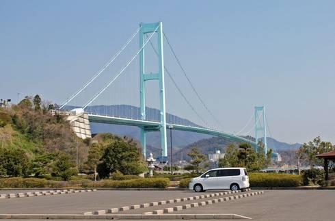 安芸灘大橋 下蒲刈島からの眺め