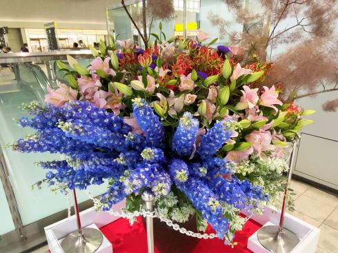 広島駅 コロナの影響受ける花業界から花の展示4