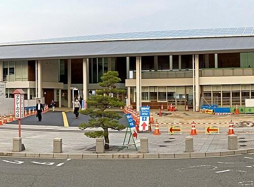 旧フェリーターミナル解体、整備が進む宮島口の風景
