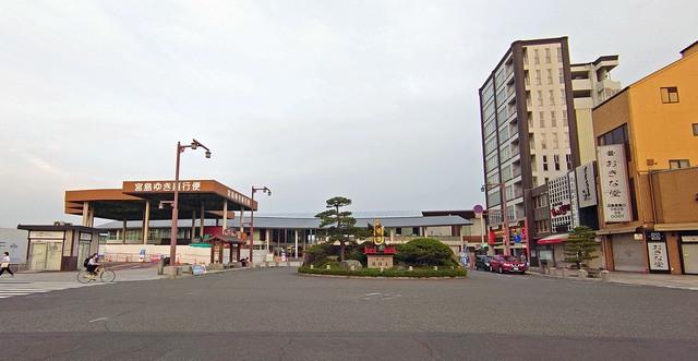 宮島口 フェリーターミナル周辺の風景 パノラマ