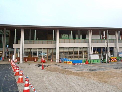 JR宮島フェリーの旧フェリーターミナルビル解体後の風景2
