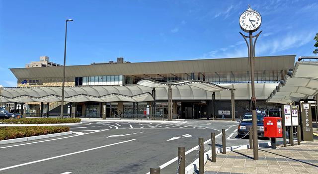 新しくなった、岩国駅西口 駅前広場