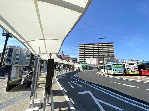 岩国駅 西口(表口)の新しくなったバス乗り場