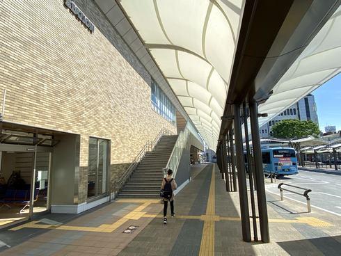 岩国駅 西口(表口)のバス乗り場