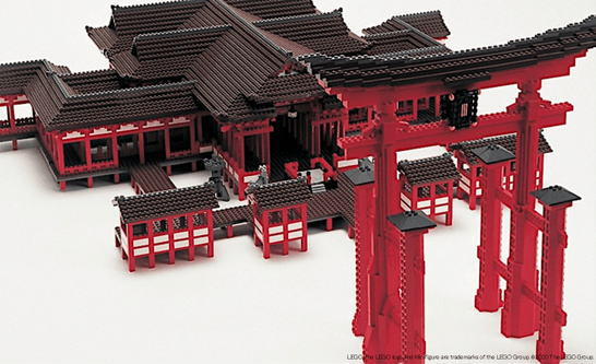 厳島神社などレゴ®ブロックで作った世界遺産、広島パルコで展示