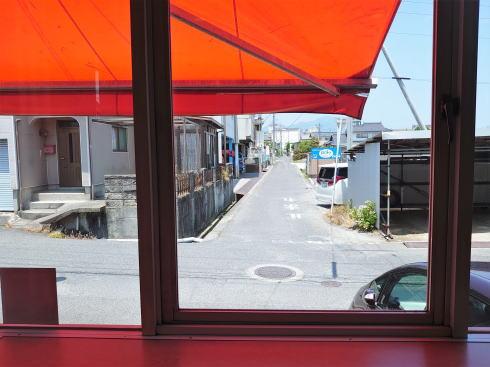 大竹市 シシリー(SiCiLy)メイプルシティ 店内から見る景色
